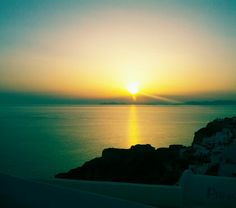 Sunset @ Oia, Santorini - Greece