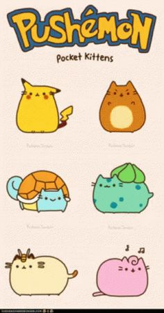 Just have to get this out there: I'm totally obsessed with Pusheen the cat. Pusheen is fluffy, chubby, adorable, lazy, loves Nutella…basically my. Chat Pusheen, Pusheen Love, Cute Kawaii Drawings, Cute Animal Drawings, Cute Fat Cats, Kawaii Cat, Cute Pokemon, Cat Memes, Cute Wallpapers