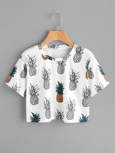 This pineapple print crop is LIFE  #afflink