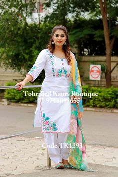 Simple Indian Suits, Ladies Suits Indian, Salwar Suits Simple, Punjabi Suit Simple, Embroidery Suits Punjabi, Embroidery Suits Design, Embroidery Designs, Punjabi Suits Designer Boutique, Boutique Suits