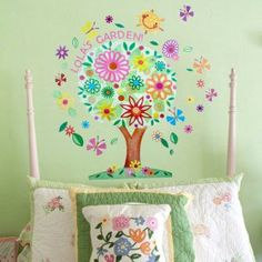 Baby nursery wall decor is truly theepitome of cuteno matter if you are aftergirl nursery wall decor orboy nursery wall decor. In fact you will absolutely amazed at the wide variety of baby nursery wall decor to pick from. Indeed you can find all kinds ofwhimsicalpieces of nursery wall art that not only arepreciousto look at but also a real treat that stimulates your baby's mind. Oopsy Daisy Flower Tree Peel and Place Wall Art, 54 by 45
