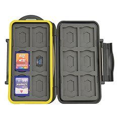 JJC MC-SDMSD24 Water-Resistant Holder Storage Memory Card Case & 12 Micro SD Cards (Black) JJC http://www.amazon.com/dp/B00Q4IPEKS/ref=cm_sw_r_pi_dp_AYeUwb1KREGNJ