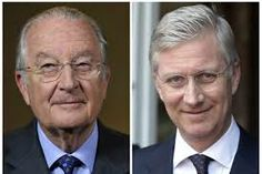Former King Albert of the Belgians and his son King Philippe of the Belgians.