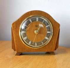 Vintage Smiths Sectric Recycled Mantel Shelf Clock 1940s