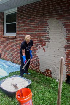 Home Update: German Smear On Our Brick