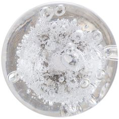 """$7 Clear Bubble Round Glass Knob -Cfeatures a bubble-filled clear glass body that will incorporate a special pop in your furniture updates and re-upholstery projects. Your drawers, cabinets, and doors will look stylish and fashionable with this cute knob!     Dimensions:  Diameter: 1 3/8"""" Projection (Approximate Distance Knob with Extend from Cabinet Drawer or Door): 1 1/2"""" Screw Length: 1 1/2"""""""