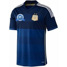adidas Argentina World Cup 2014 Soccer Jersey (Away) Argentina Football  Team eb0a56ebd