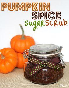 homemade scrubs, gift ideas, homemade gifts, sugar scrubs, pumpkin spice