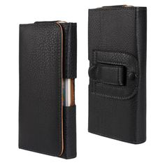 4.8 to5.5 inch Universal Wallet Waist Belt Clip Pouch Flip Leather Case For Samsung Galaxy S4 S3 LG G2 Cellphone Bags+Gift Pen