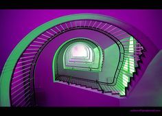 purple & green #staircases