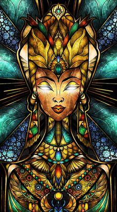 """""""Nefertiti"""" by Mandie Manzano"""