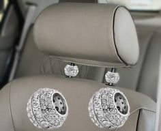 Make your car bling with Bling Car Decor® icy crystal car seat headrest charms. These dazzling bling car accessories will decorate your car interior with personality & charm that's stylish and classy. Bling Car Accessories, Car Accessories For Women, Car Interior Accessories, Pt Cruiser Accessories, Vehicle Accessories, Car Seat Headrest, Girly Car, Charms, Car Gadgets