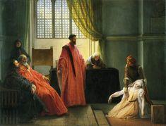 Francesco Hayez, Valenza Gradenigo davanti agli inquisitori, 1835