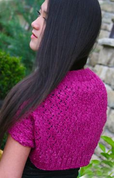 Victoria's Shrug loom knitted pattern