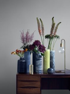 A beautiful mixture of different vintage ceramic vases <3