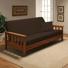 Stretch Jersey Full Futon Cover in Brown by Madison Home. $47.24. jer-fut-bn Features: -Brown.-Fits a full size futon mattress.-Soft and comfortable jersey fabric.-Easy to take off and put on.-Machine wash and dry. Construction: -Constructed of 95pct polyester and 5pct spandex material. Collection: -Stretch Jersey collection.