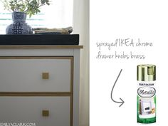 Our White & Gold (IKEA) Nightstand Makeover - Emily A. Clark