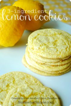 Yep, 3 ingredients in these cookies and they are DELISH!