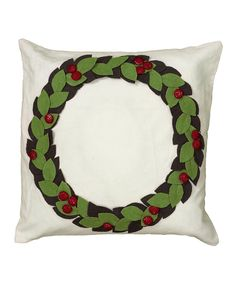 Do ---  Take a look at this Green Wreath Pillow on zulily today!