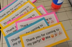 Emoji Birthday Party Favor Tags Printable