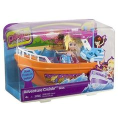 Polly Pocket Adventure Cruisin' Boat Playset by Mattel toy gift idea birthday by Polly Pocket Adventure Cruisin' Boat Playset by Mattel toy gift idea birthday. $16.20. Features Includes: doll, boat, lounge chair, surfboard & binoculars    Ages 4 years & up