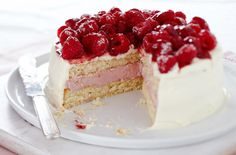 Raspberry Colada Mousse Cake
