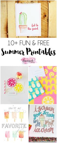 10+ Fun Free Summer Printables