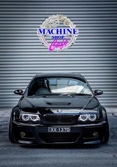 Visit The MACHINE Shop Café... ❤ Best of BMW @ MACHINE ❤ (Black BMW E46 ///M3 Coupé)