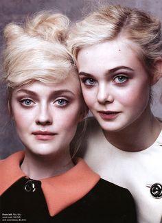 Dakota & Elle Fanning for Vogue US.
