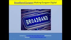 Broadband Internet services providers in Gurgaon