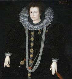 1590s_Possibly Anne Keighley (d.1598/1599), Mrs William Cavendish by Marcus Gheeraerts the younger Oil on canvas, 101.5 x 83 cm Collection:  National Trust, Hardwick Hall, Derbyshire,