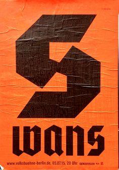 postersofberlin: Swans Volksbühne – found in Charlottenburg
