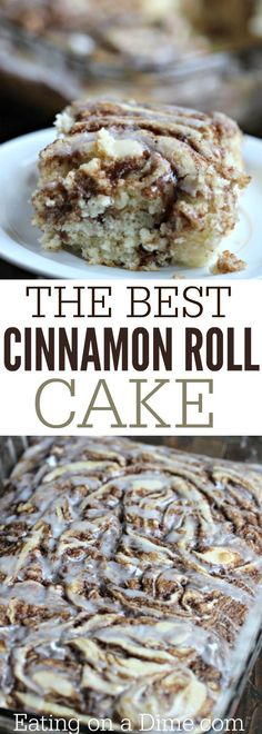 Here is a fun twist on a coffee cake recipe. This easy cinnamon roll cake recipe is the best. Get the taste of homemade cinnamon rolls without all the work. (kids party meals breakfast recipes)