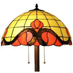 Medina 2-light Orange 62-inch Tiffany-style Floor Lamp (Orange 62-inch Tiffany-style Floor Lamp), Brown (Glass)