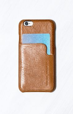 Sleek and stylish, the Status Anxiety Hunter And Fox iPhone 6 Case Tan really is your new BFF! Keep all your must-haves in one place, with this tan leather case, designed to perfectly fit three cards and notes. No more rummaging through your bag to find your wallet and phone, they're all in one place with this handy case! What's more, she comes in recycled cardstock Status Anxiety box. Can't find  bag to suit your outfit? The Status Anxiety Hunter And Fox iPhone 6 Case Tan goes with…