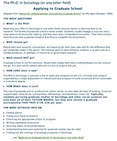 Applying to Graduate School - University of Notre Dame, great resource with useful information related to the process