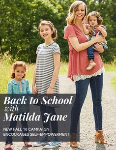 Back to School with Matilda Jane! The new Fall collection comes with brand new styles-- and a positive message! Best Clothing Brands, Tween Mode, Cheap Kids Clothes, Tween Fashion, Fashion Clothes, Tween Girls, Matilda Jane, Fall Fashion Trends, Kind Mode