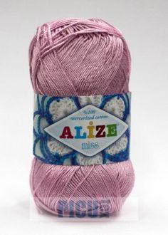 Poze Fir de tricotat sau crosetat - Fir BUMBAC 100% ALIZE MISS ROZ 474 Winter Hats, Fire, Coil Out, Tricot