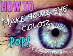 How to make your eye color pop? #tips What color Eyeshadow should you use?