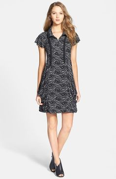 kensie Lace Print French Terry Dress available at #Nordstrom