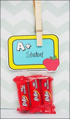 """Printable Party Favor Label """"A+ Student"""""""