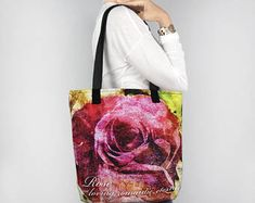 Birthday Blossoms June Birth Month Flower Rose Tote Bag