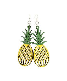 Look what I found on #zulily! Yellow Pineapple Drop Earrings #zulilyfinds