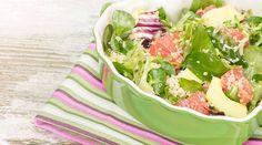 Rezept für Quinoa-Salat mit Grapefruit, Avocado und Ziegenkäse
