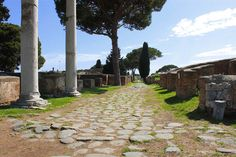 Decumano Massimo Sidewalk, Side Walkway, Sidewalks, Pavement, Walkways