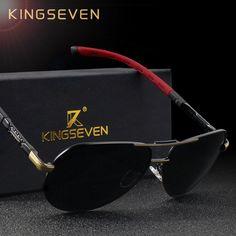 f0fdb65ad6 KINGSEVEN Men/Women Vintage Aluminum HD Polarized Sunglasses Lentes, Gafas  De Mujer, Anteojos
