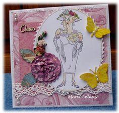 Art Impressions: Ai Golden Oldies: Bea (Sku#Q2787)  handmade tea themed card.