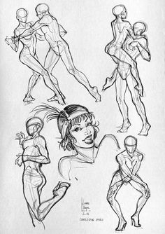 Here are some more anatomical studies and sketches  (sport).