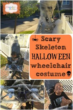 Looking for a fun and SPOOKY Halloween costume idea for your child's wheelchair? This year Ivan will be a skeleton in a graveyard!