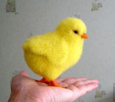 """Купить Интерьерная игрушка """"Цыплёнок"""" - Валяные игрушки, птица, птицы, игрушка, авторская игрушка"""